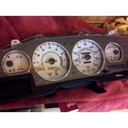 TOYOTA SUPRA MK3 86-92 ALLOY GAUGE TRIM SURROUNDS DIAL RINGS x 6 NEW
