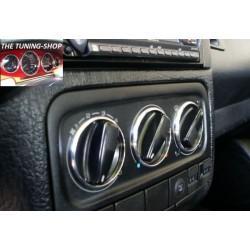 VOLKSWAGEN VW GOLF MK3 91-98 CHROME HEATER SURROUNDS TRIM RINGS SET NEW
