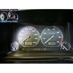 VW VOLKSWAGEN GOLF 3 MK3 91-98 CHROME DIAL RINGS TRIM SURROUNDS SET NEW