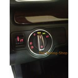 VW PASSAT CC 2008-2012 LIGHTS SWITCH SURROUND CHROME RING x 1 POLISHED ALLOY new