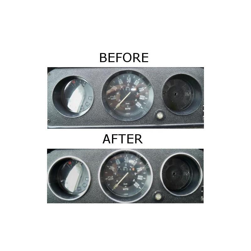 vw volkswagen  camper bus bay   chrome dial surrounds gauge trim rings