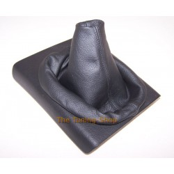 VW LUPO GEAR GAITER SHIFT BOOT BLACK LEATHER