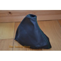 VW PASSAT B5 96-05 GEAR GAITER SHIFT BOOT LEATHER GREEN STITCHING