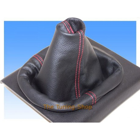 VW POLO MK3 6N2 00-01 GEAR GAITER SHIFT BOOT RED STITCH