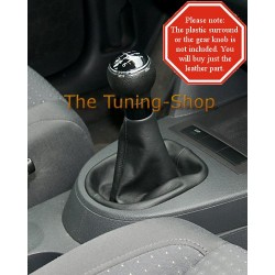 VW TOURAN 03-09 GEAR GAITER SHIFT BOOT BLACK LEATHER