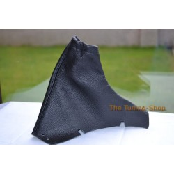 VOLVO V70 01-07 HANDBRAKE GAITER E BRAKE BOOT COVER BLACK LEATHER NEW
