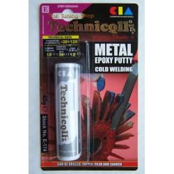"""EPOXY PUTTY FOR METALS (steel, aluminium, bronze, iron casts, etc) 40g """"COLD WELDING"""" HIGH QUALITY"""
