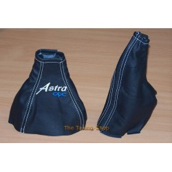ASTRA G COUPE GEAR & HANDBRAKE GAITER EMBROIDERY ASTRA OPC WHITE STITCHING NEW