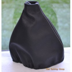 PORSCHE 944 1985-1991 GEAR GAITER BLACK LEATHER WHITE STITCHING