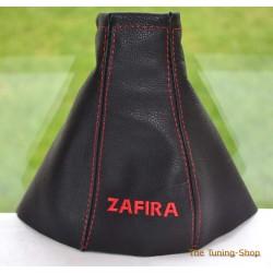 VAUXHALL ZAFIRA A 1999-2005 GEAR GAITER embroidery ZAFIRA RED STITCHING