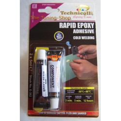 1 x EPOXY ADHESIVE GLUE RAPID 5 MIN FOR metal wood glass plastic bricks concrete marble etc 2 x 5ml TECHNICQLL NEW