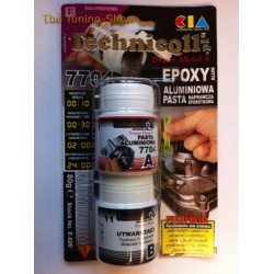 1 x EPOXY ALUMINIUM PASTE FOR FIXING CRACKS IN METAL PARTS ENGINE BLOCKS HEADS BROKEN THREADS etc 100g TECHNICQLL NEW