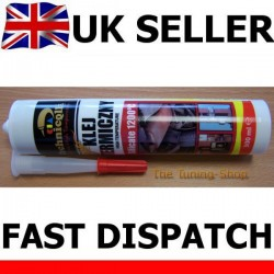 1 x HIGH TEMPERATURE SILICATE ADHESIVE GLUE 1200'C FOR EXHAUST PIPES COLLECTORS FIREPLACE OVEN 300ml TECHNICQLL NEW