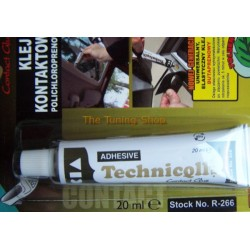1 x 20ml CONTACT ADHESIVE GLUE - LEATHER RUBBER CORK PLASTIC METAL FELT FAUX LEATHER TECHNICQLL NEW