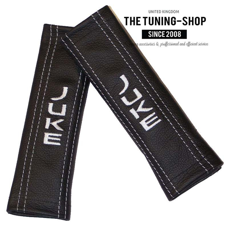 Noir coutures 2x siège avant ceinture en cuir couvre fits vw lupo 1998-2005