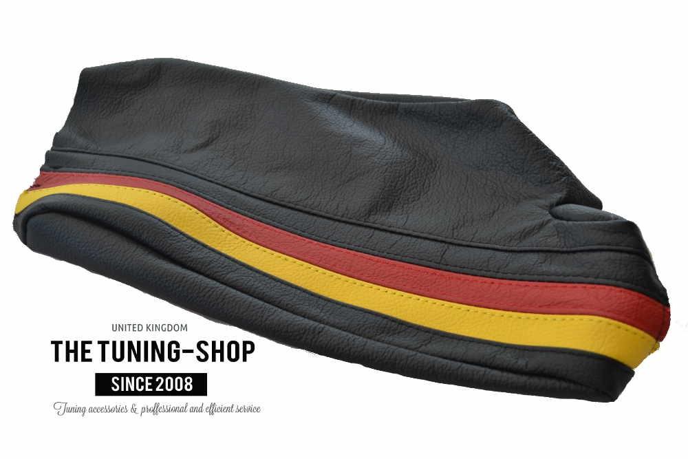 For Citroen Berlingo FL 2002-07 Gear Stick Gaiter Black Leather Blue Stitching