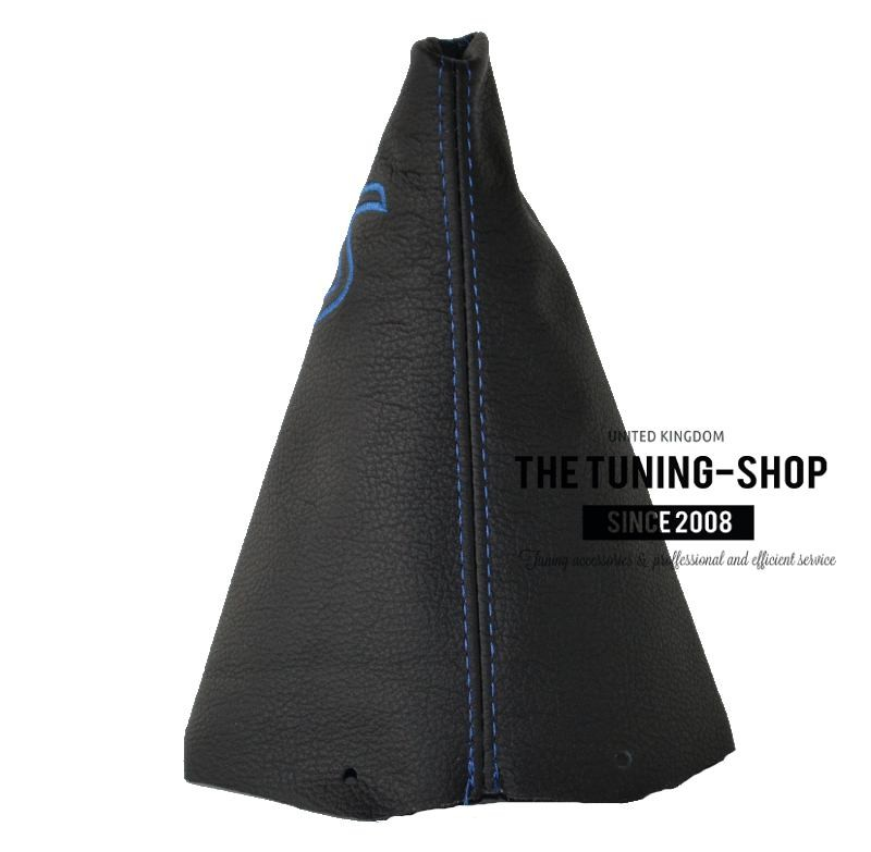 The Tuning-Shop Ltd For Mini Cooper R50 R53 S-One 2001-2006 Manual Shift Boot Black Italian Leather With Red Stitching