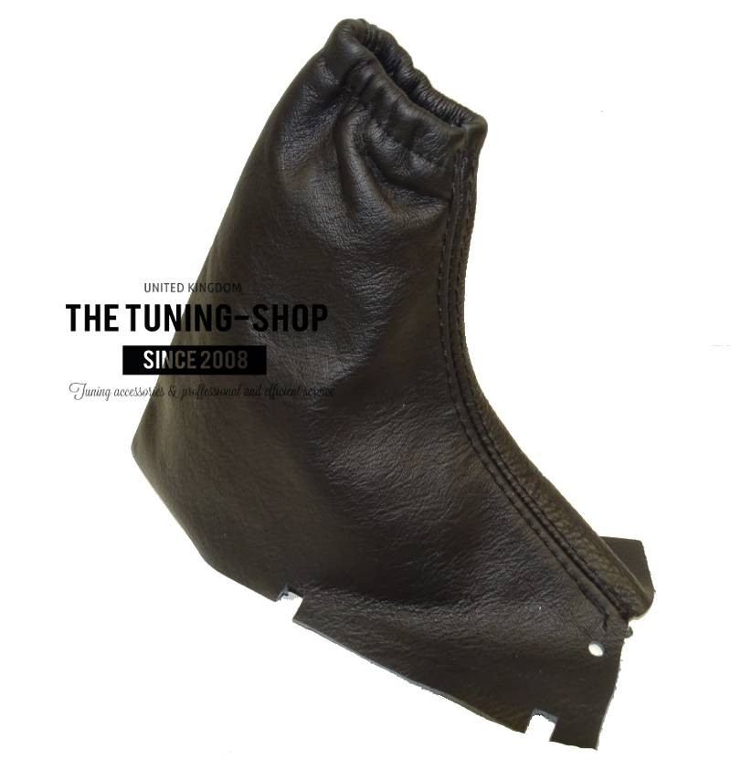 FOR VOLVO V70 2004-2007 MANUAL GEAR HANDBRAKE GAITER DARK GREY ITALIAN LEATHER