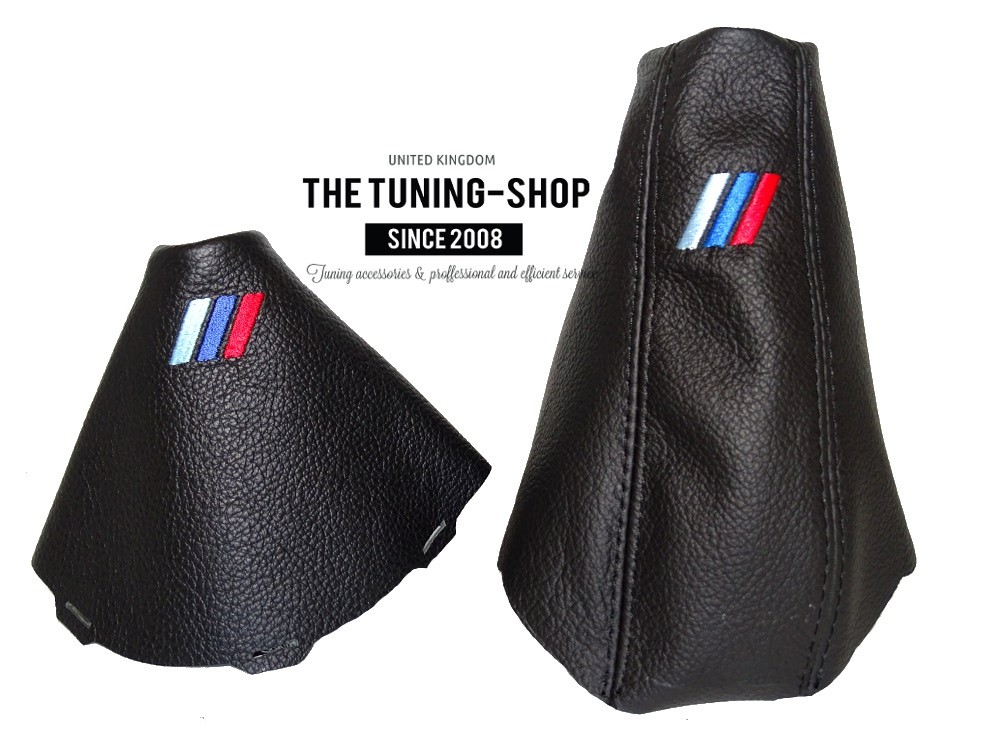 RED STITCH GRAPHITE SUEDE GEAR HANDBRAKE GAITER FOR BMW 3 SERIES E36 E46