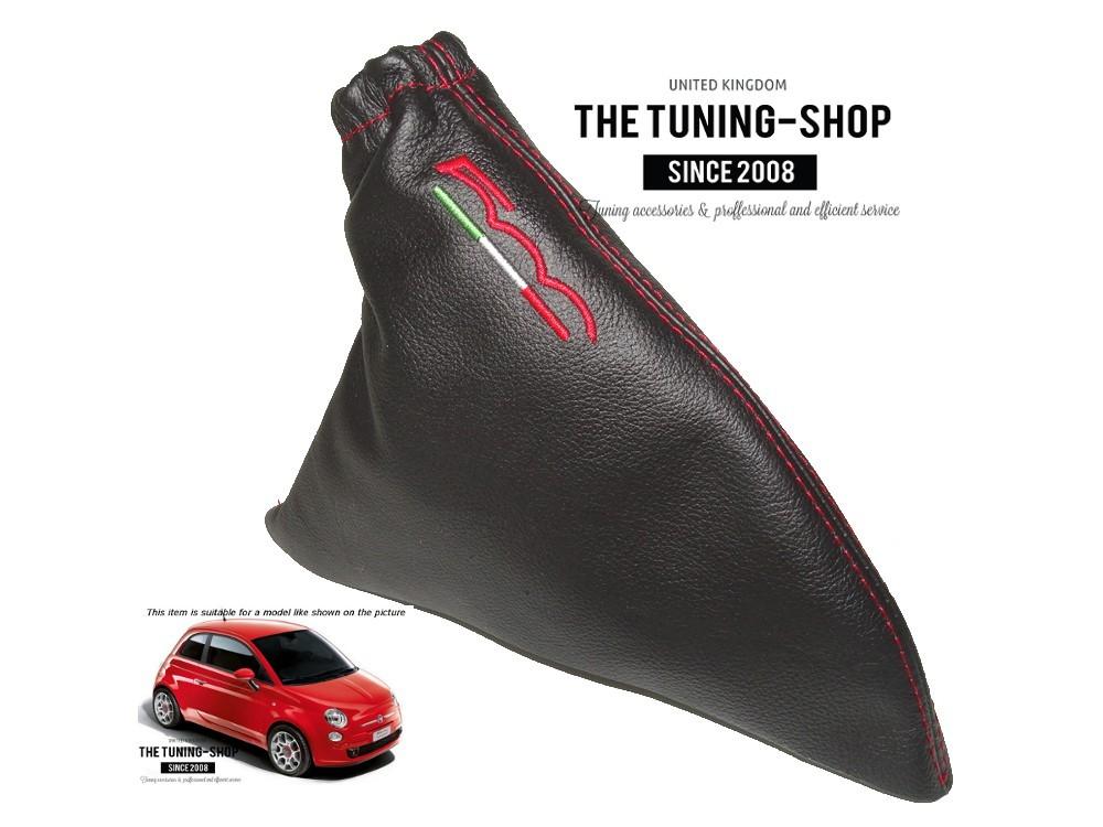 The Tuning-Shop Ltd Gear Cuffia Leva Freno a Mano Nero in Pelle Italiana