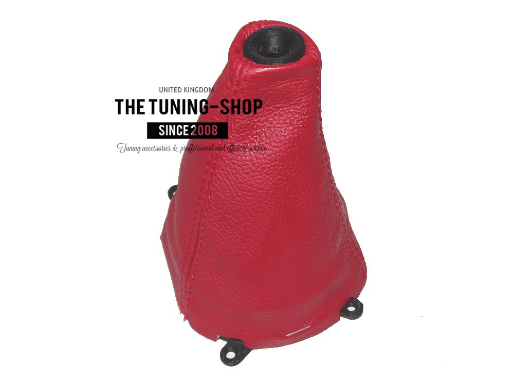 for Honda Civic Sedan 2012-15 Shift Boot Leather Red Stitching
