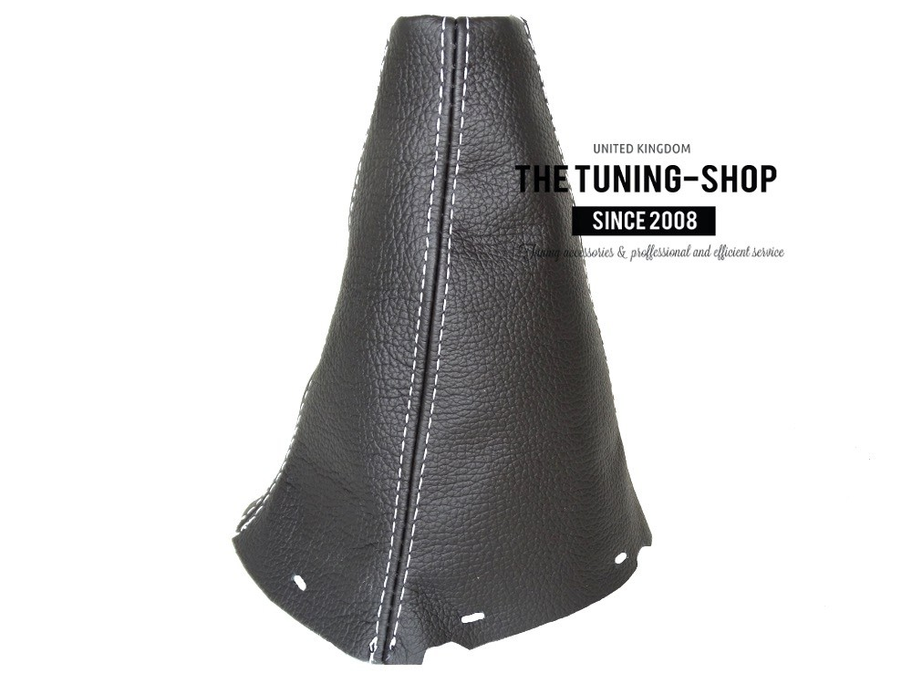 BLACK STITCHING MANUAL REAL LEATHER GEAR GAITER FITS CITROEN C4 2004-2010
