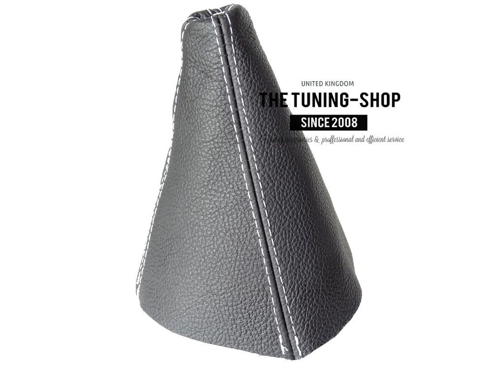 Gear Stick Gaiter For Hyundai Tucson MK1 2004-2009 Leather White Stitching